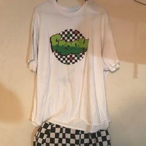 checkered shirt and short set
